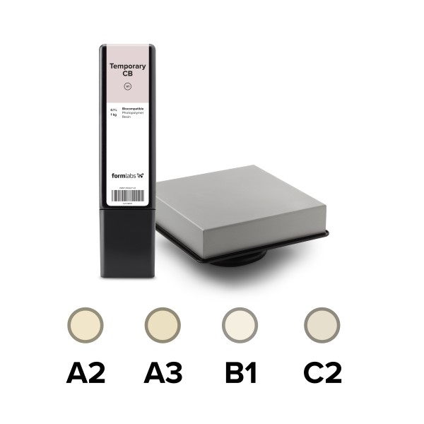 Formlabs Permanent Crown Resin 1 kg (0,7 L) Starter Pack
